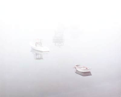 Boats in Fog by Gary Thompson
